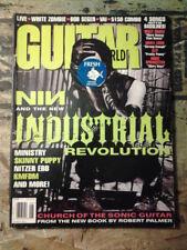 NINE INCH NAILS GUITAR WORLD MAGAZINE JULY 1995 INDUSTRIAL WHITE ZOMBIE STP