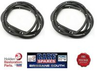 HOLDEN EJ EH FRONT DOOR SEALS PAIR (2) ALL MODELS LH OR RH FRONT HOLDEN APPROVED