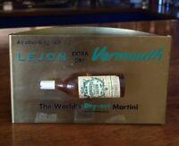 Rare Vintage Lejon Extra Dry Vermouth Metal Bar Top Sign Liquor Beer Pub Tavern