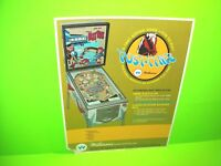 Williams POST TIME Original 1969 Flipper Game Pinball Machine Promo Sales Flyer