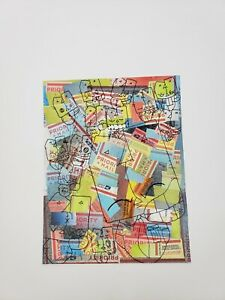 Graffiti art original abstract sticker Collage pop art by nyc street Artist PUKE