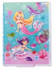 "Girls Diary with Lock - 7"" Mermaid Kids Secret Diary Journal with Two Keys"