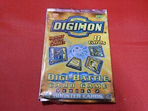 Digimon Series 2 Booster Pack Digi Battle Sealed Upper Deck Bandai Cards NEW !