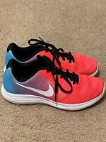 Nike Revolution 3 819416-404 Blue Pink White Running Shoe 4Y Used