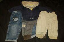 bundle boys jeans trousers cardigan age 6-9 months