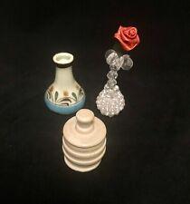 "Dollhouse Miniature Outdoor Border Plants Shrubs Pink 3//4/"" Set of 8 CA0201"