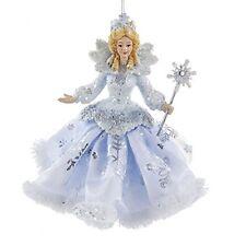"Kurt Adler Frosted Kingdom Snow Queen Fairy Ornament 6""- C8903"