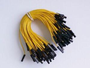 """Jumper Wires, F-F, 5"""" (Qty 100)"""