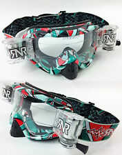 Rip 'n' ROLL MOTO MX ENDURO LUNETTES DE PROTECTION HYBRIDE RNR NEUF fluo Poster