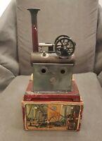 Rare Miniature Ernst Plank Vertical Steam Engine w/Original Box, Germany, 1904