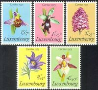 Luxembourg 1975 Orchids/Flowers/Plants/Nature/Welfare Fund 5v set (n34064)
