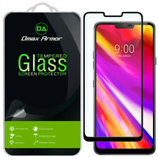 2-Pack Dmax Armor -LG G7 ThinQ Tempered Glass Full Cover Screen Protector Black