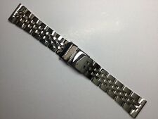 NEW 20MM HEAVY BAND BRACELET STRAP FOR BREITLING NAVITIMER CHRONOMAT SHINY