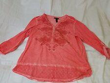 Vintage Style & Co Petite Pink Women's Shirt Size PXL