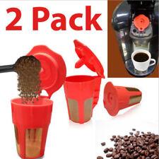 2-Pack Keurig 2.0 Refillable K Carafe Reusable Coffee Filter Replacement Orange