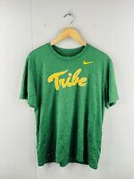 Nike Tribe Men's Vintage Short Sleeve Crew Neck Logo T Shirt Size L Green
