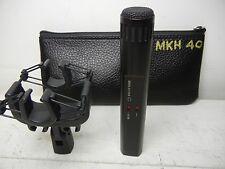 SENNHEISER MKH 40 P48 CARDIOID CONDENSER MICROPHONE W/SHOCK MOUNT & POUCH LQQK!