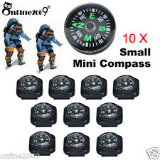 10PCS 20mm Mini Pocket Survival Liquid Filled Button Compass For Hiking Outdoor