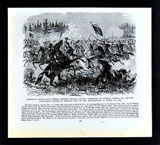 Frank Leslie Civil War Print - Cavalry Skirmish at Kelley's Ford Virginia Battle