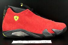 Nike Air Jordan Retro 14 XIV 'Ferrari' 654459-670 Challenge Red Suede Size 14