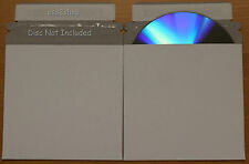 "200Pcs NEW  White Envelope 5 "" X 5"" CARDBOARD CD & DVD MAILERS WITH SEAL FLAP"