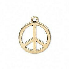 2 Gift Peace Sign Wish Boxes Charms Pendants 24x17mm