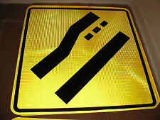 HUGE 30x30 RIGHT LANE ENDS AD HIGH INTENSITY PRISMATIC STREET TRAFFIC ROAD SIGN