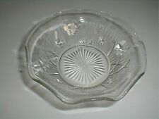 Jeannette Depression Glass IRIS HERRINGBONE Berr/Dessert/Fruit Bowl (loc-D57)