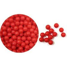 Edible Sugar Pearls Dragees Decoration Balls - RED 2 oz.