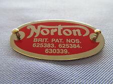 15399 NORTON DOMINATOR ATLAS 500 650SS LEFT HAND CRANKCASE PATENT PLATE BADGE *