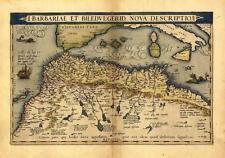 Groß A1 North Africa Marokko Tunesien Libyen Ägypten Alt Antik Landkarte von