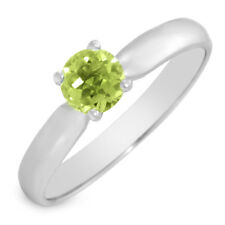 0.42ctw Peridot Ring in SSilver-Size 6