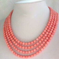 "Long Handmade Natural 6-7mm Pink Coral Necklace 70"" Fashion jewelry"