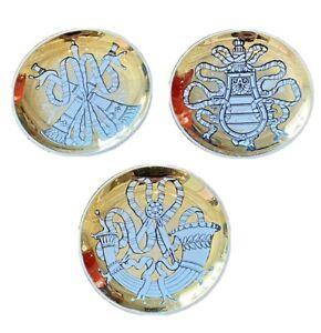 Fornasetti Milano Vtg Gold Musicalia Music Porcelain Pottery Plate Coaster Italy