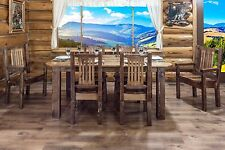 Farmhouse Style Dining Room Furniture Set Table (6) Chairs Amish Made Varnished