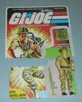 1984 GI Joe Army Jungle Trooper Recondo v1 Action Figure w/ File Card Back