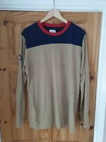 Supreme Playboy Long Sleeve Football Shirt Top Tan Size Uk Large #Box 48