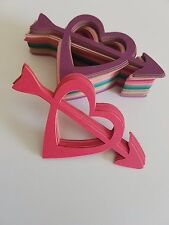 Card Stock Arrow in Heart Valentines Day Love Scrap Booking Die Cut Outs