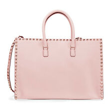 Valentino Rockstud Leather Tote- Water Rose