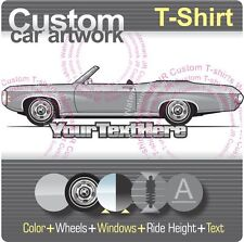 Custom T-shirt for 69 1969 Chevrolet Chevy Impala SS 427 V8 Convertible fans