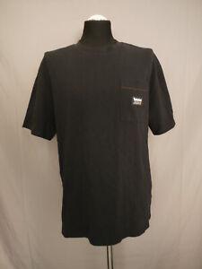 Timberland Herren T-Shirt Poloshirt Oberteil Relaxed Fit Schwarz Gr. M Neu