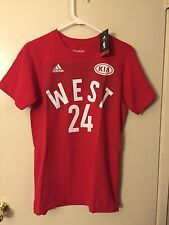 ADIDAS Kobe Bryant Western Conference NBA All Star Game Men Small Red Shirt NWT