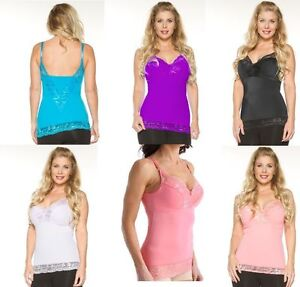 Rhonda Shear Pin-Up Lace Camisole Tank