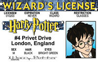 Harry Potter WIZARD  plastic ID card Drivers License -