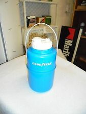 small plastic water jug goodyear tires logo blue & white