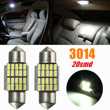 2x 30MM 3014 SMD 20 LED Festoon Dome Car Interior Light Bulbs White 6000K DC12V