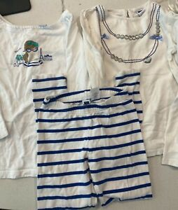 Janie And Jack Girl 3-piece WINTER SPRING FALL Tops Pants navy white 6/7.   A35