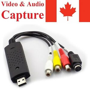 USB 2.0 Video Audio Capture Card Adapter VHS VCR TV to DVD Converter