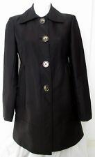 KENNETH COLE NEW YORK WOMENS US SIZE M BLACK COTTON BLEND COAT JACKET