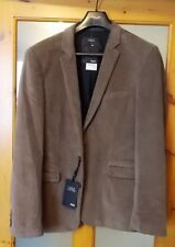 "New Next Needlecord Jacket Medium Tailored Fit 39-41"" Chest (T)"